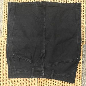 Black Demin Pencil Skirt